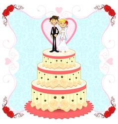 Romantic Wedding Cake vector image