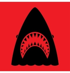 Shark with open mouth and sharp teeth vector image vector image