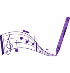 crayon music vector image vector image