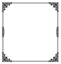 scroll border vector image vector image