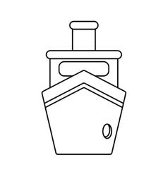 Steam boat ship transport outline vector