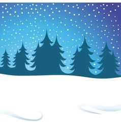 winters night vector image vector image