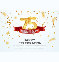 75 years anniversary banner template vector image
