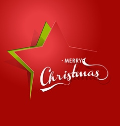 Abstract background with Christmas star and Merry vector image