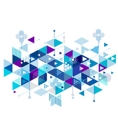 abstract colorful blue and creative mix geometric vector image