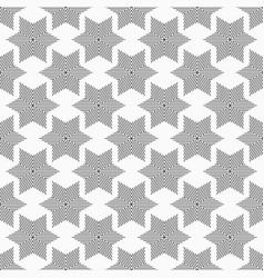 Abstract seamless pattern of striped six-pointed vector