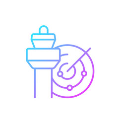 Air traffic control gradient linear icon vector