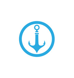 Anchor logo and symbol template icons vector