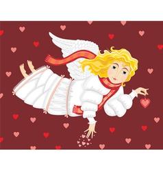 angel love cupid girl vector image