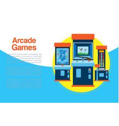 Arcade games machine arcade vector