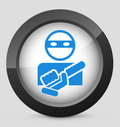 Armed bandit concept icon vector