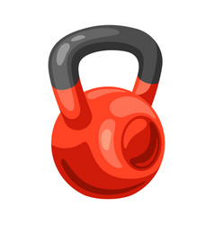 Athletic red kettlebell vector