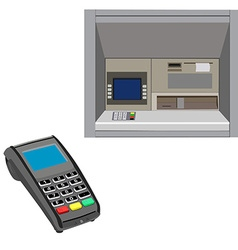 Atm and pos vector image