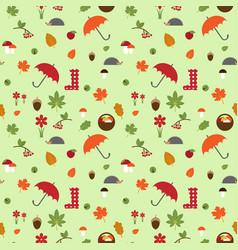 autumn flat pattern vector image