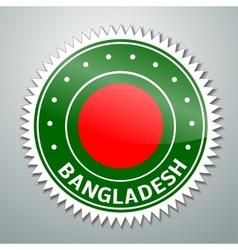 Bangladesh flag label vector