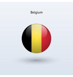 Belgium round flag vector