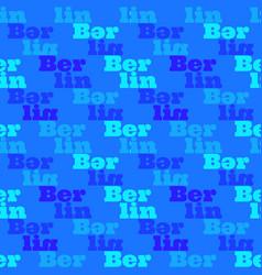 Berlin creative pattern vector