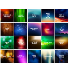 big set 20 square blurred nature backgrounds vector image