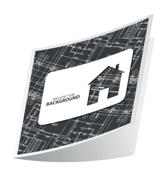 Black architecture sticker 2 vector image