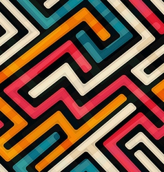 Bright labyrinth seamless pattern vector