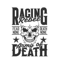Car racing skull t-shirt print sport rally races vector