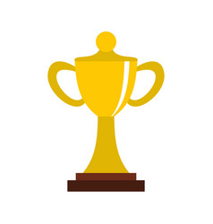 championship cup icon flat style vector image