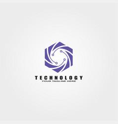 Circuit logo template logo technology vector