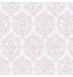 Classic style damask ornament pattern vector image