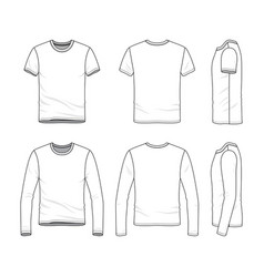 clothing set of male shirt and tee vector image