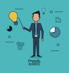 colorful background poster of corporate business vector image