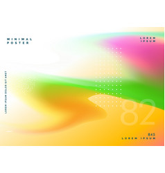 Colorful gradient mesh fluid background design vector