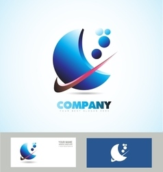 Corporate business abstract logo vector