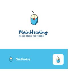 creative mouse logo design flat color logo place vector image