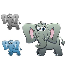 Cute elephant baby isolated on white background fo vector