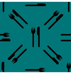 cutlery knife fork web icon flat design Seamless vector image