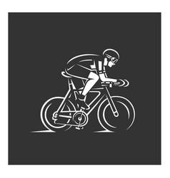 cyclist bike vector image