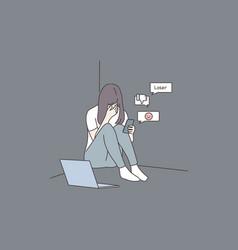 Depression frustration mental stress vector