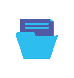 Digital file icon flat design vector