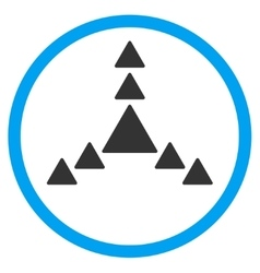 Direction Triangles Rounded Icon vector