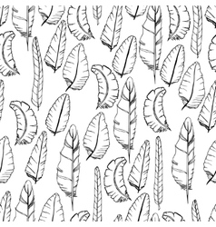 Doodle Feather Pattern vector image