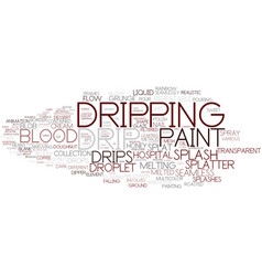 Dripping word cloud concept vector