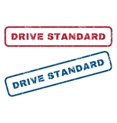 Drive Standard Rubber Stamps vector image