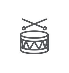 drum line icon on white background vector image