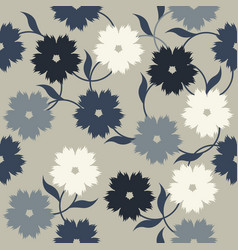 Elegant pattern with stylish flowers and leaves vector