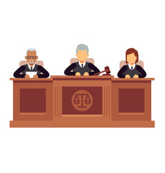 Federal supreme court with judges jurisprudence vector