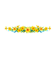 Festive floral composition with daffodils vector