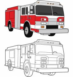 fire engine vector image vector image