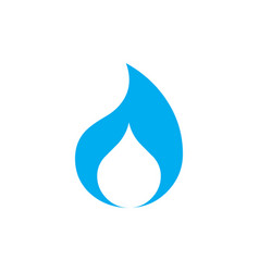 flame and water drop logo concept isolated on vector image