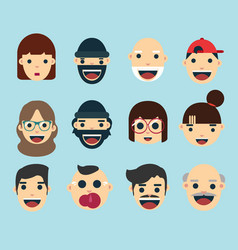 flat avatar collection vector image