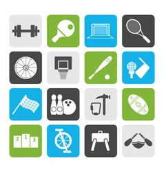 Flat Sports gear and tools vector image